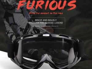 Goggles Lentes premiun Mica Transparente Proteccion Moto Bici Respiracion