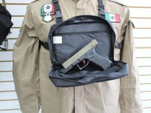 Maletin pechera 978 para custodios o guardia seguridad con bolsa secreta