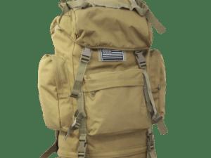 Mochila militar viaje campamento 65 lt con armazon aluminio