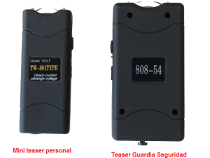 Stun Gun Paralizador profesional grande teaser lampara recargable portatil