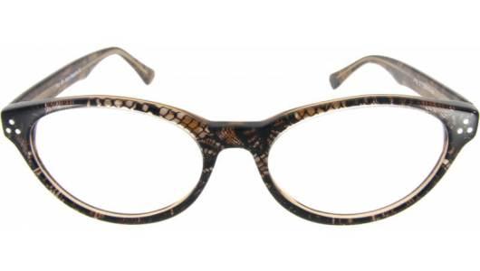 Cateye Brille mit Schlangenmuster