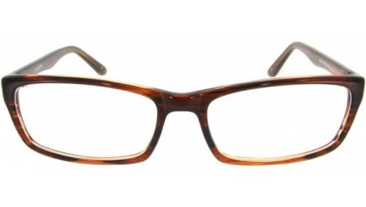 Schmale bronzefarbene Kunststoffbrille