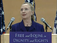 Hillary Clinton speaks to UN about LGBT Rights on Dec.6, 2011