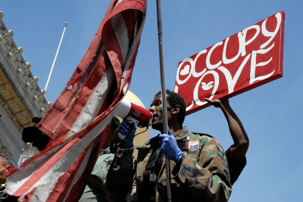 occupy love flag