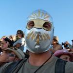 masked on media tour. Photo: Wendy Goodfriend