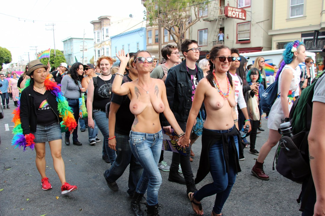 Topless Marchers