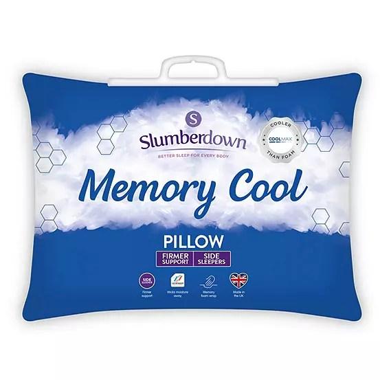 memory cool pillow by slumberdown