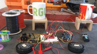 circuit board wired up to create zone 1,2 and 3 effect