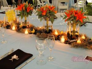 Украшение свадебного стола цветами   Украшения своими руками