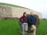 My flatmates, Sarah and Ciaran visiting Newgrange