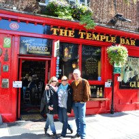 My parents visiting Dublin
