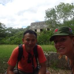 My correan friend in Uxmal