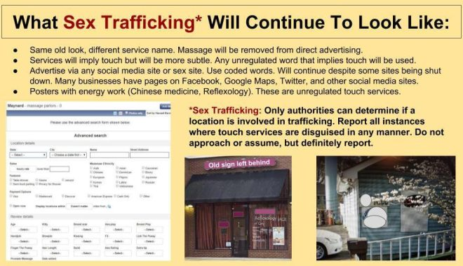 slideshow common sign sex trafficking