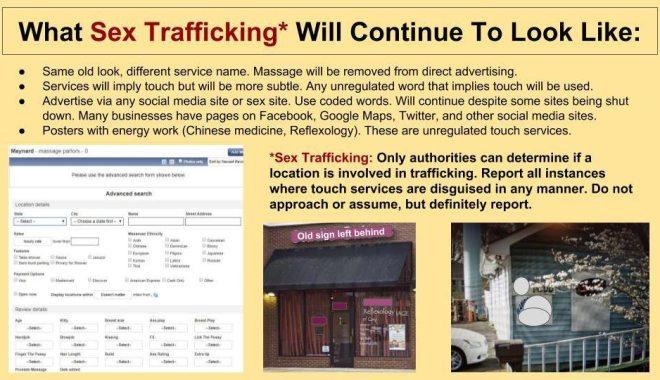 slideshow common sign sex trafficking