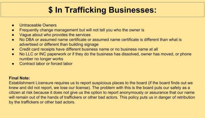 slideshow money in trafficking businesses