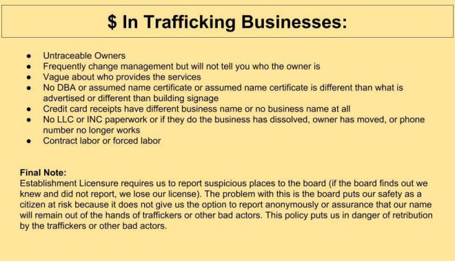 slideshow money in trafficking businesses