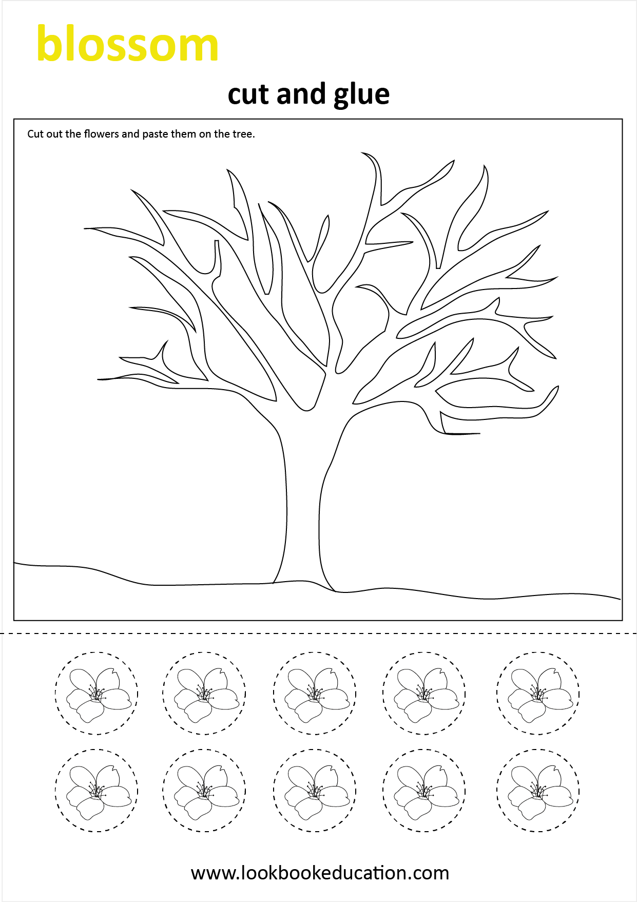 Worksheet Spring Blossom
