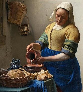 la lechera de vermeer