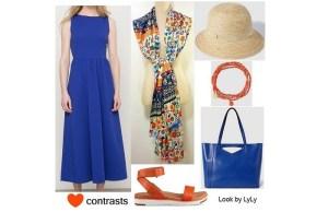 Outfit de contrastes para verano (II)