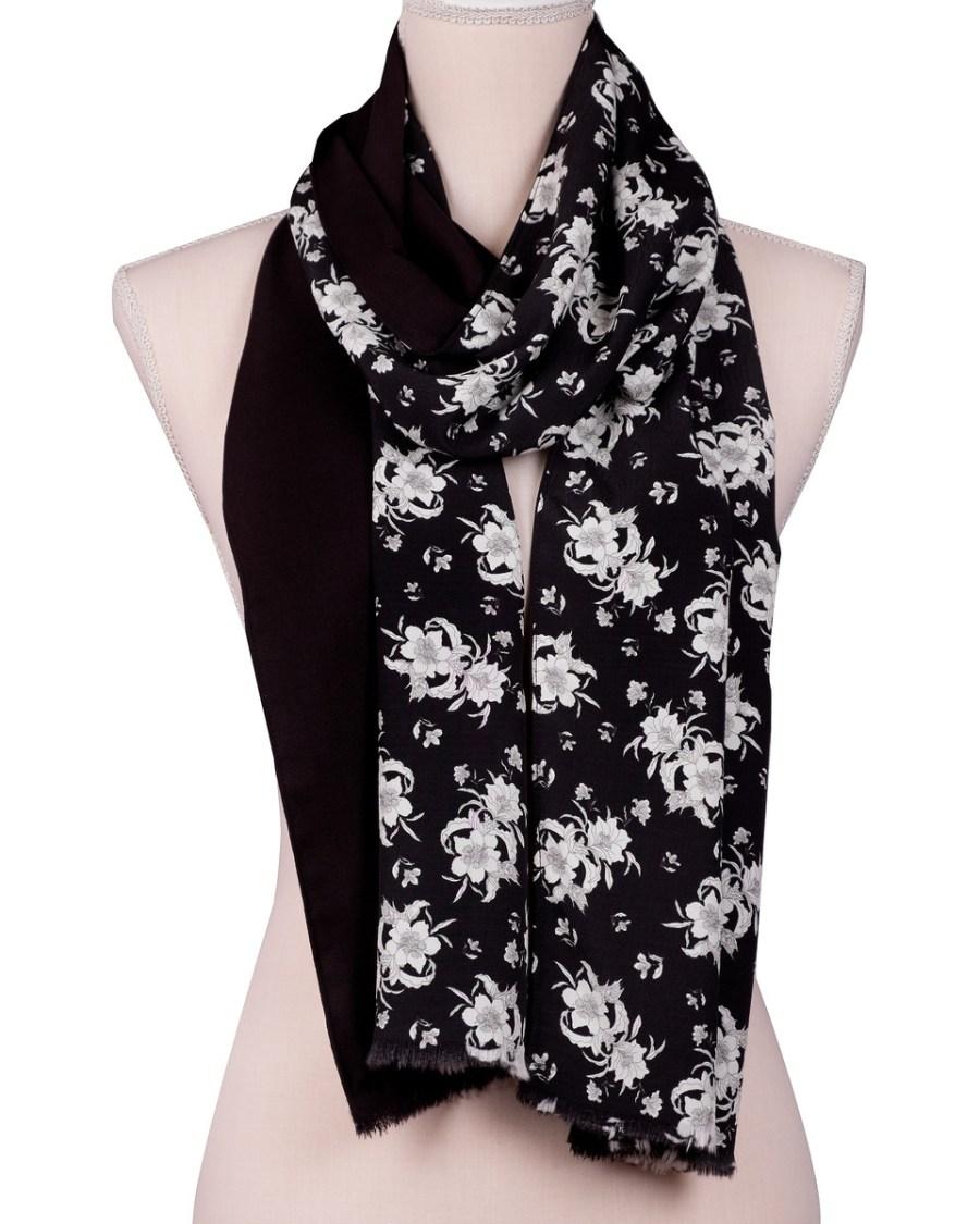 bufanda estampado floral