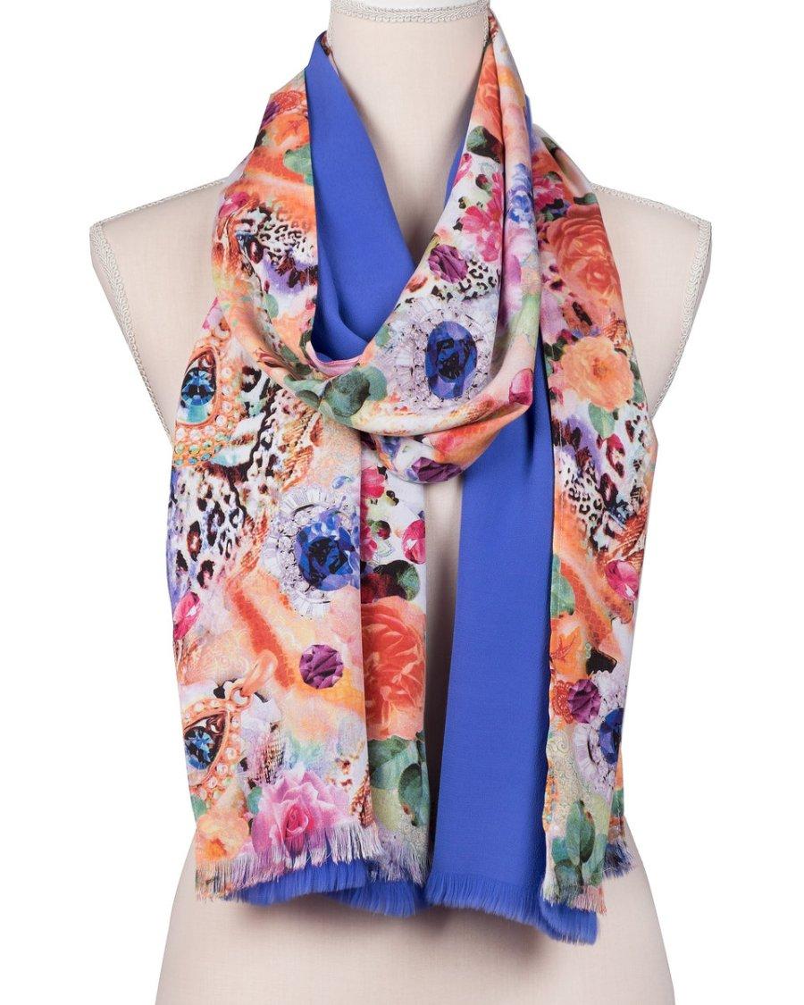bufanda estampada de flores
