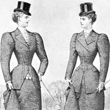 sombreros de copa mujer siglo XIX