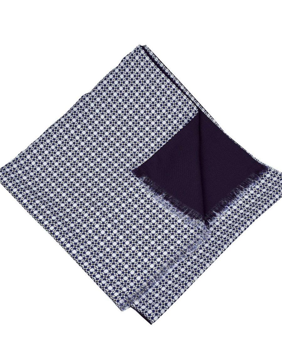 Bufanda hombre azul estampado geometrico lool by lyly
