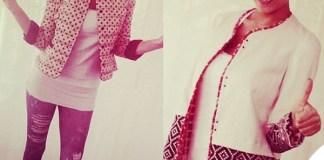 Cristina Chiabotto leggings FK piumino Violanti cappotto Bazar Deluxe