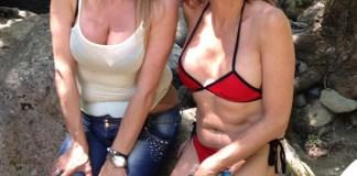 Nadia Girardi Vladimir Luxuria Cascate San Fele bikini Antonio Marcasciano 5