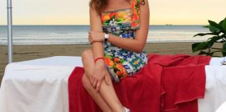 Cristiana Capotondi Mostra del Cinema di Venezia abito Dolce Gabbana borsa Cruciani