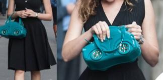 Cristiana Capotondi top gonna sandali Dolce & Gabbana borsa Braccialini