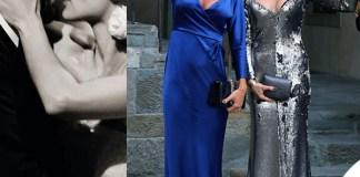 Matrimonio Hunziker Trussardi Silvia Toffanin abito blu Ilary Blasi abito Antonio Grimaldi 1