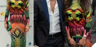 Gianluca Tozzi Raffaella Fico abito Philipp Plein