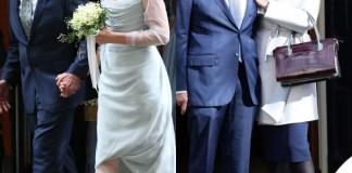 nozze Rupert Murdoch Jerry Hall abito Vivienne Westwood ballerine Roger Vivier