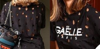 Melissa Satta vestito Gaelle Bonheur borsa La Carrie Bag occhiali Hawkers