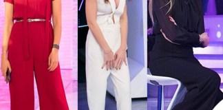 Caterina Balivo Ilary Blasi tuta Nude Federica Panicucci jumpsuit Elisabetta Franchi