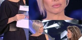 Ilary Blasi 8 puntata GF Vip abito Dsquared2 sandali Le Silla