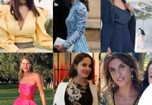 Atzei Middleton Satta Dello Russo Iezzi Canalis outfit da matrimonio