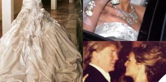 Melania Trump abito Christian Dior Donald Trump nozze 0