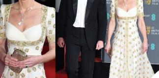 Kate Middleton ai Bafta 2020 con l'abito Alexander McQueen già indossato nel 2012