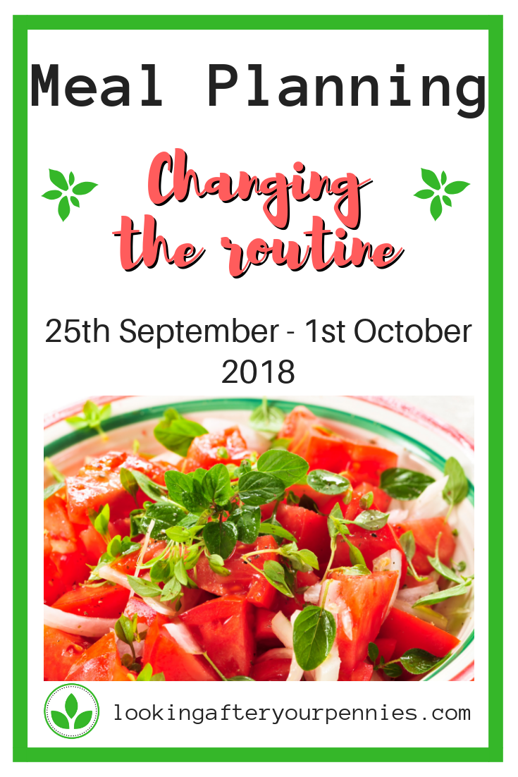 Meal Planning: Changing the Routine. Sometimes you need to make a big change to see a big difference. That's what we have done this week. Check it out. #mealplanning #frugalliving