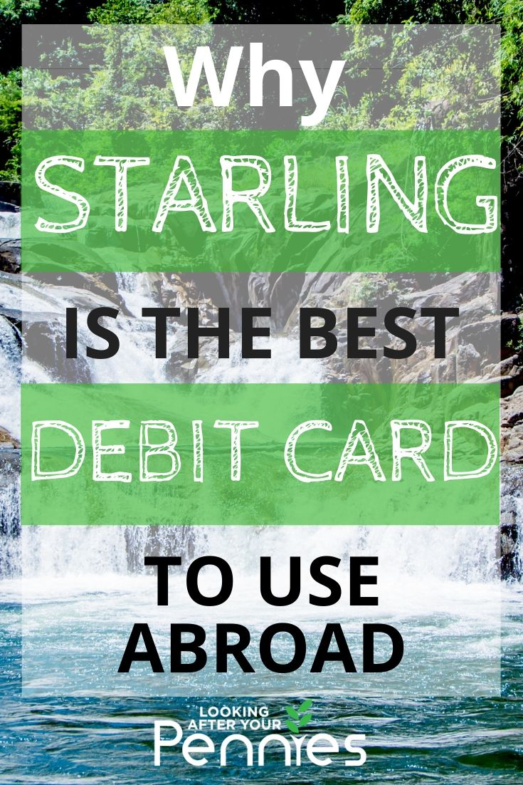 starling travel debit card
