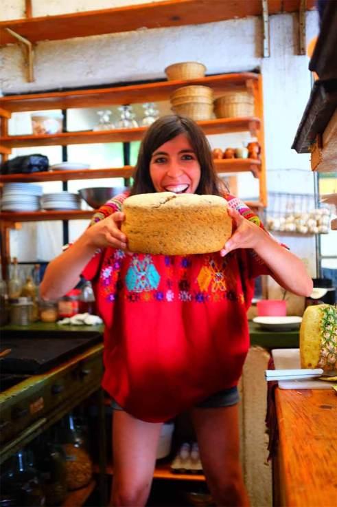 Cozinhar pão na Isla Verde - aveia, pepitória, sementes de chia e de sésamo