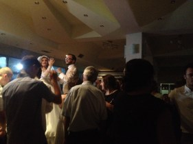 Later, when we switched to pop music and dancing I can handle, the couple danced literally on a table.