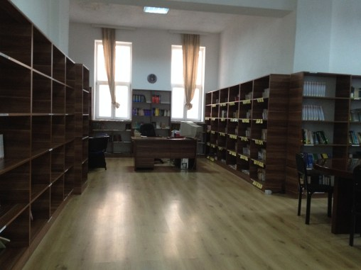 The library at a glance. Very clean, very organized, very very cold in the winter.