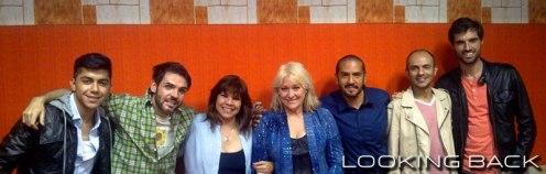 Con Amaya Saizar, Javier De la Vega y Óscar Piñero de Trigo Limpio.