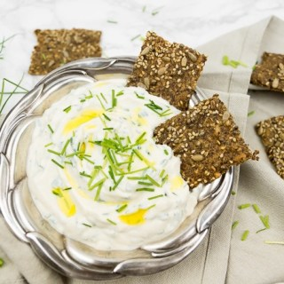 Cream Cheese Dip with Chives and Flaxseed Oil