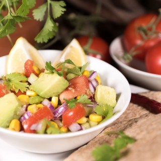 Light and Fresh Avocado Salsa with Celery (Oil-Free)
