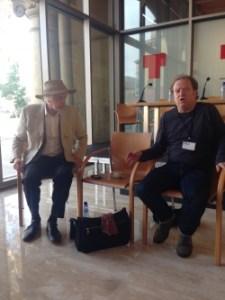 Edward Petherbridge and Paul Hunter at the Teatre Lliure in Barcelona in November, 2014