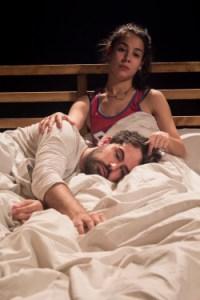 Carlota Olcina and Pau Roca in the play Pulmons (Lungs) by Duncan Macmillan